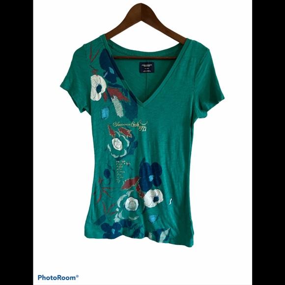 3/$30 American Eagle v-neck short sleeve shirt